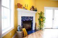 Sapphire Blue Craftsman Fireplace - Eclectic - Living Room ...