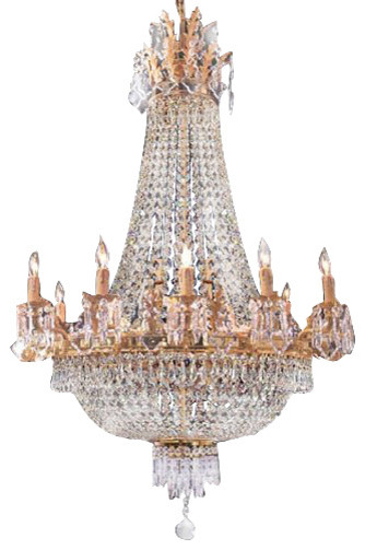 French Empire Crystal Chandelier Traditional Chandeliers