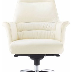 Harith High Back Leather Executive Chair Summer Infant Geffen Genuine Aluminum Base - Contemporary Office Chairs ...
