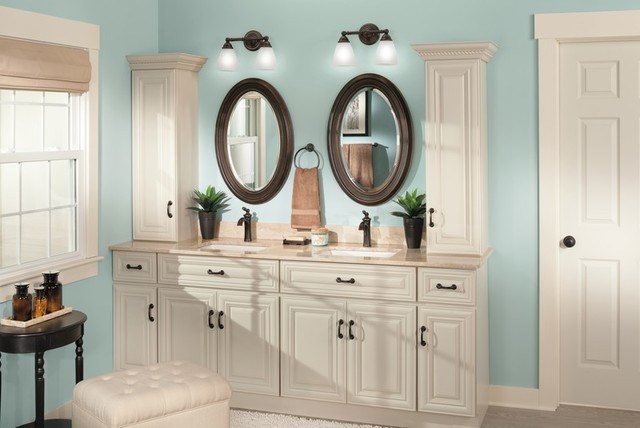Moen Brantford Traditional Blue Bathroom  Traditional  Bathroom  other metro  by Moen
