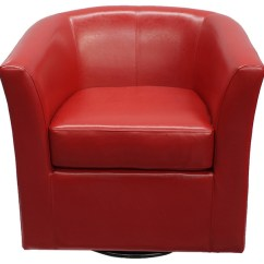 Swivel Club Chair Bean Bag At Target Corley Red Leather Contemporary Armchairs And