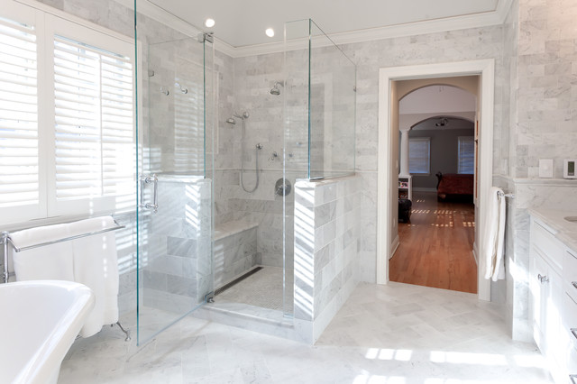Luxury Shower With Body Sprays And Frameless Glass