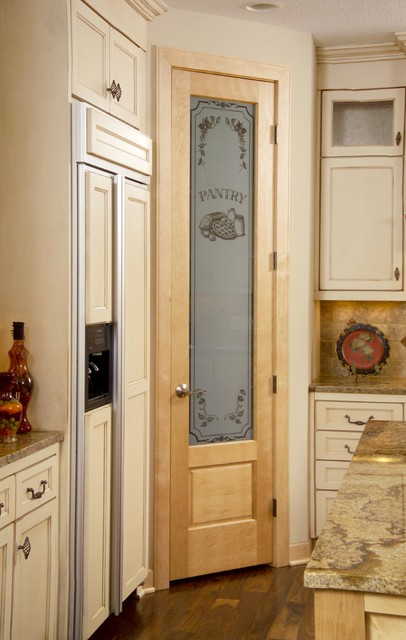 skinny kitchen cabinet remodeling contract sample 8/0 birch pantry door with panel below. - traditional ...