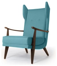 Carter Mid Century Modern Chair - Lucky Turquoise Blue ...