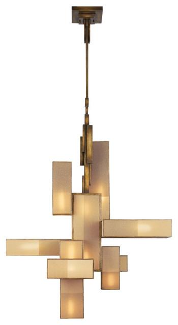 Fine Art Lamps Perspectives Bronze Chandelier 732040gu Modern Chandeliers