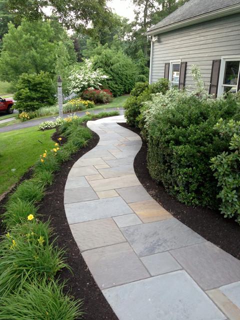 curving bluestone walkway