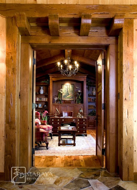 Mountain Home Office  Rustic  Home Office  santa