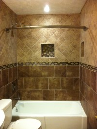 Floor to ceiling Tile bath