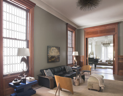 gray paint colors for living room pictures of with walls wood trim
