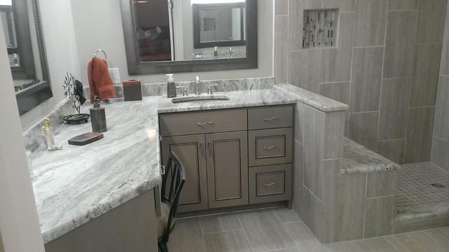 MASTER BATHROOM Complete Remodel 12 X 24 Vertical Tile Contemporary Bathroom Austin