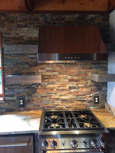 rustic kitchen with stone backsplash Stone Kitchen Backsplash
