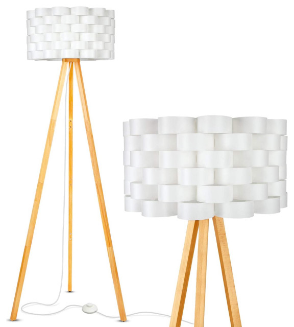 Brightech Bijou Led Tripod Floor Lamp Contemporary Design For Modern Living Room Midcentury Floor Lamps By Brightech