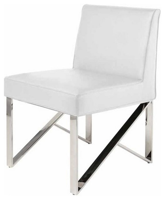 dining chairs with stainless steel legs art deco club leather modern chair
