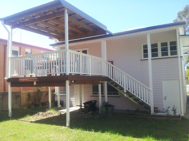 dorado office chair red club brisbane flyover patio roof insulated and second story deck - traditional by deking ...