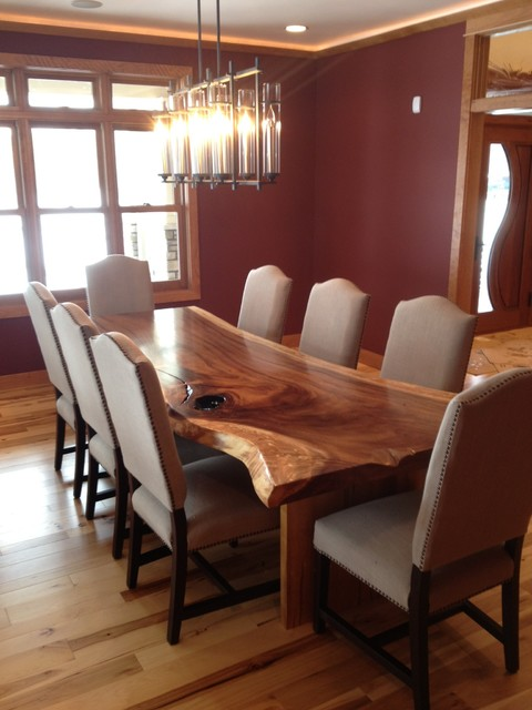 Live Edge Dining Table  Modern  Dining Room  Other  by Woodland Creek Furniture