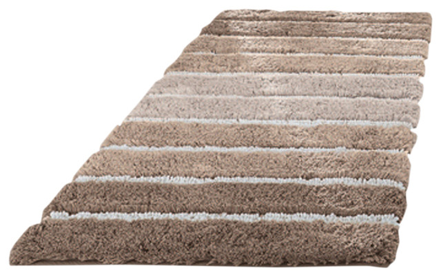 Eco Living Taupe Machine Washable Bathroom Rug, Phoenix