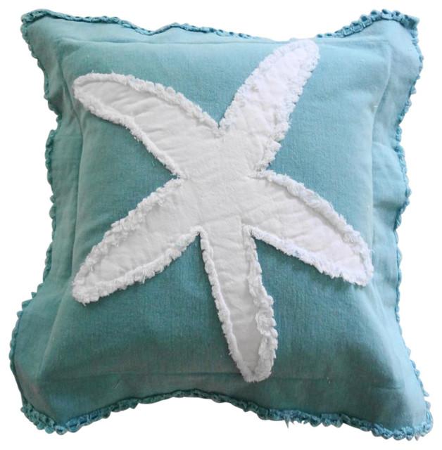 coastal starfish throw pillow