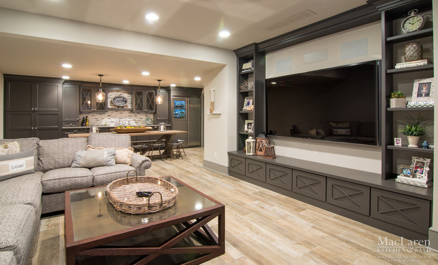 Open Concept Living Room And Wet Bar In West Chester PA