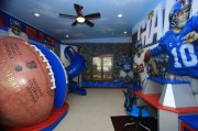 nfl giants themed room - traditional