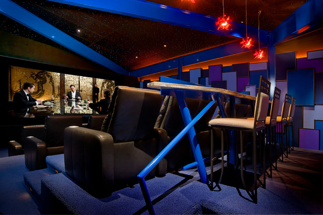 Modern Home Theater Contemporary Home Theater Cleveland By