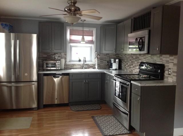 Grey Shaker Kitchen Cabinets  Modern  Kitchen