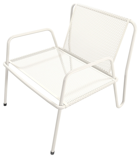 steel lounge chair bed bath and beyond club altamira perforated stainless contemporary outdoor chairs by markamoderna