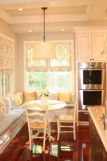 Kitchen Banquet Built In Seating Around Table  Traditional  Kitchen  charleston  by Sea
