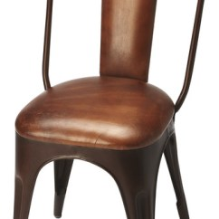 Industrial Dining Chair Incontinence Protectors Riggins Iron Leather Side Bar Stools And Counter By Hedgeapple