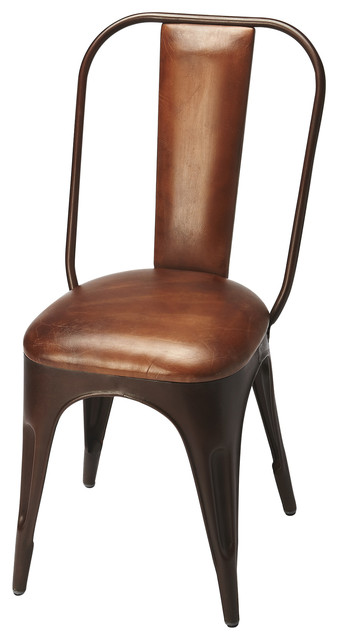 leather side chair balloon for sale riggins iron industrial bar stools and counter by hedgeapple