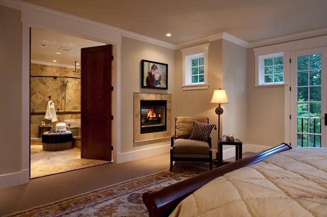 Master Bedroom Double Fireplace in Bedroom and Bathroom  Bedroom  Seattle  by John Kappler