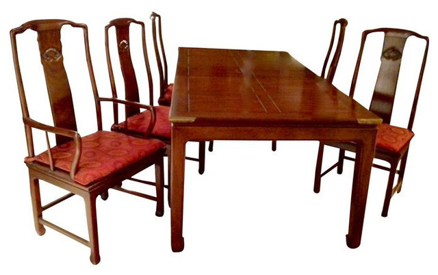 henredon asian dining chairs how to make bamboo chair sold out classic table with 6 4 000 est home design jpg