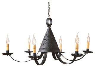 Pennycress Punched Tin Chandelier Southwestern Chandeliers By Market Man Online Llc