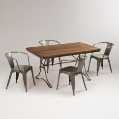 Monarch Double X Back Dining Chairs Folding Counter Height Jackson Set - Eclectic Sets By Cost Plus World Market