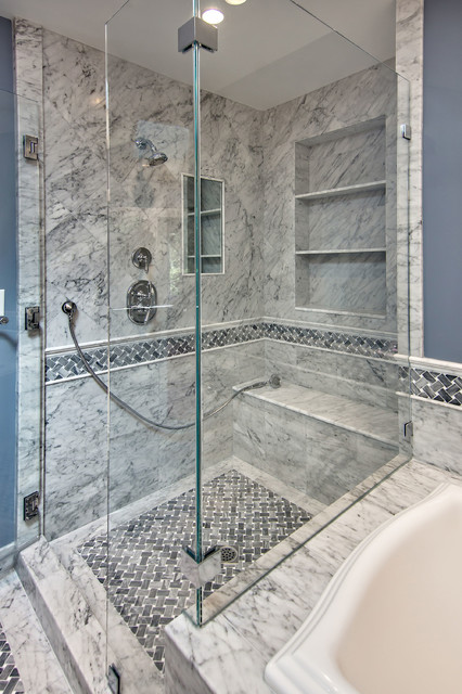 Basket Weave Tile Floor Traditional Bathroom San