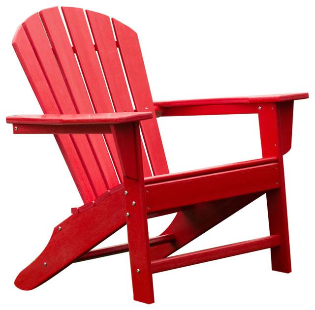 Outdoor Patio Seating Garden Adirondack Chair Red Heavy