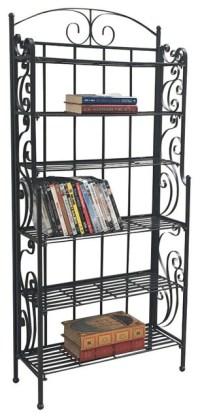 6-Shelf Tall CD/DVD Storage Rack,Antique Black ...