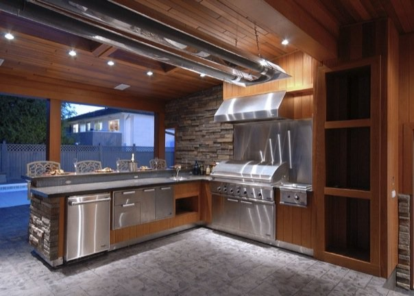Chill  Grill in 4Season Style  Outdoor Kitchen  Modern