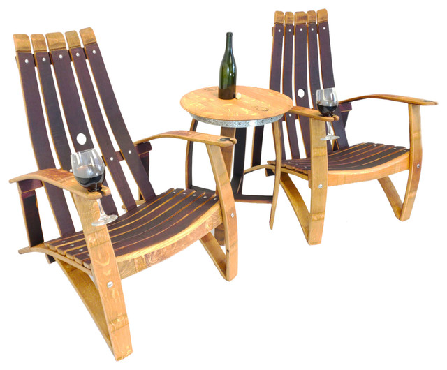 barrel stave adirondack chair plans summer infant wine set farmhouse outdoor lounge sets by central coast creations