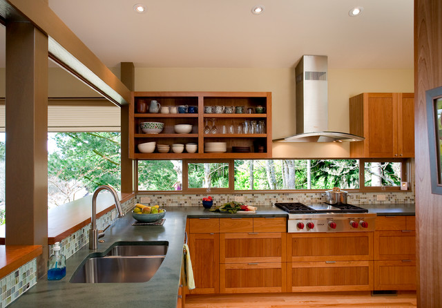 kitchen faucets pull down compact appliances pacific nw mid-century remodel - midcentury ...