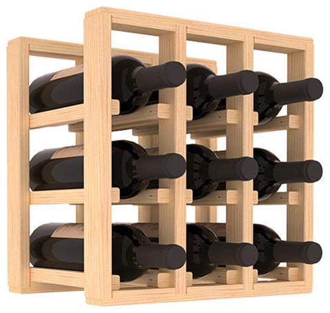 wine racks america pine 9 bottle countertop wine rack unstained