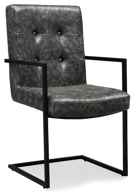 RusticModern  Pemton Gray Arm Chair  View in Your Room