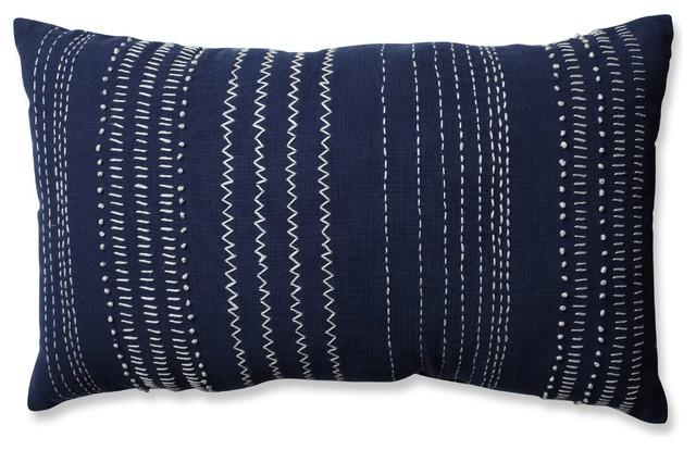 pillow perfect tribal stitches rectangular throw pillow navy white