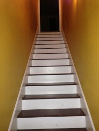 Need help stairs are So plain... Maybe write something ...