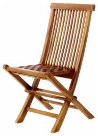 All Things Cedar TF22 Teak Wood Folding Chair - Modern ...