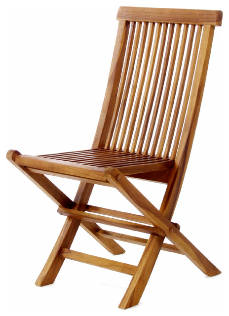 brown wooden folding chairs water ski chair teak transitional outdoor by unbeatablesale inc