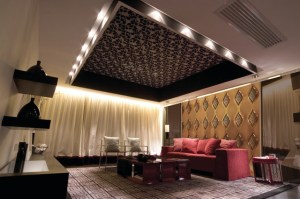living wall tiles mirror background contemporary rooms