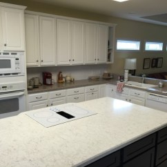 Kitchen Island With Drop Leaf Complete Silestone: Lusso And Sahara Blue Countertops