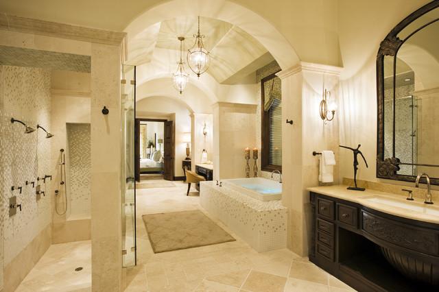 Rough Hollow Master Bath  Mediterranean  Bathroom  Austin  by Cornerstone Architects