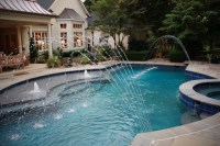 French Gray with blue quartz - Traditional - Pool ...