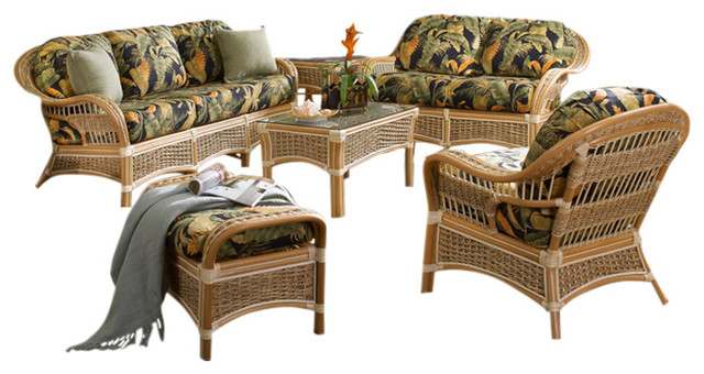 6 piece living room set houzz small photos islander furniture in natural fern fabric tropical sets by spice islands wicker